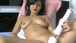 Hot brunette likes to masturbate with sex toys, and masturbate her pussy with a vibrator