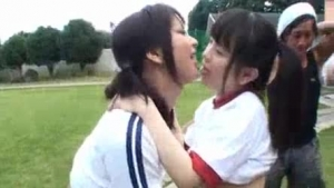 Nelly Kent and Kerry Cherry are getting gangbanged in the middle of the day and moaning while cumming