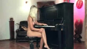 Slim blonde babe and her handsome boyfriend are doing everything they can think of to make her love cum