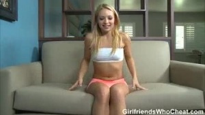 Naughty blonde is naughty enough to fuck her step- father instead of learning to drive