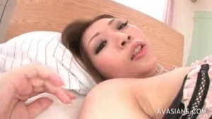 Sandi Star is getting her pussy stimulated with a glass sex toy, instead of getting a massage